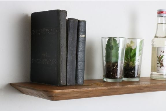Wall Shelf - Teak - Floating Craftsman