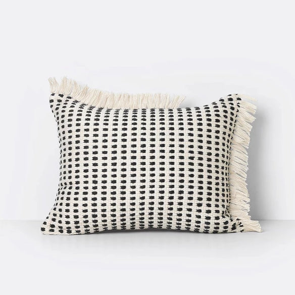 Cushion - Off White/ Blue - Handwoven