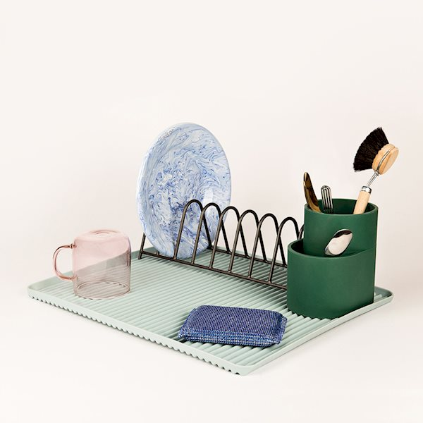 Dish Drainer - Cutlery Holder - Dark Green