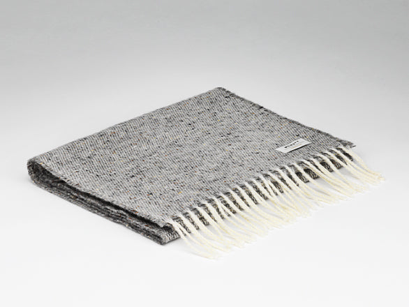 Scarf - Lambswool - Speckled Grey