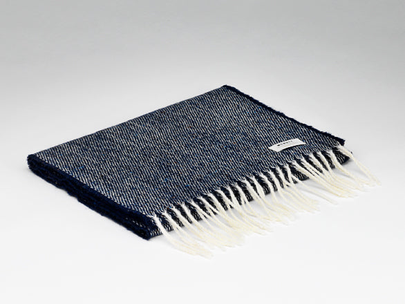 Scarf - Lambswool - Speckled Navy