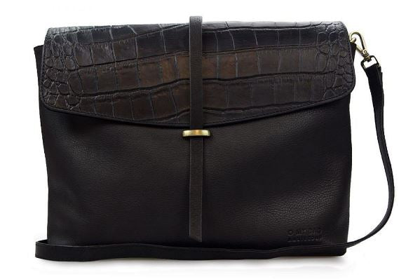 Bag - Ella - Eco Midnight Black/ Croco