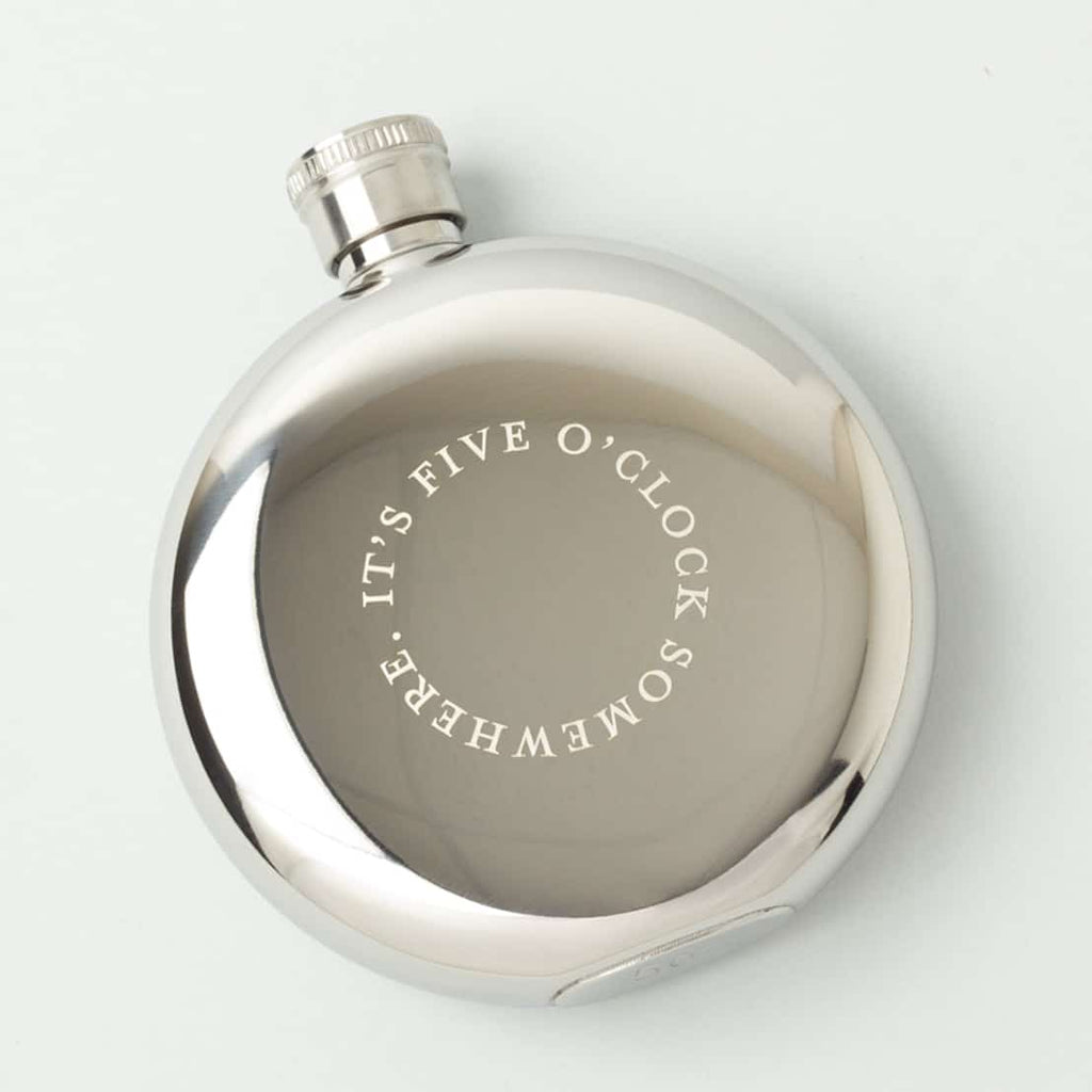 Hip Flask - It's 5 O'Clock Somewhere