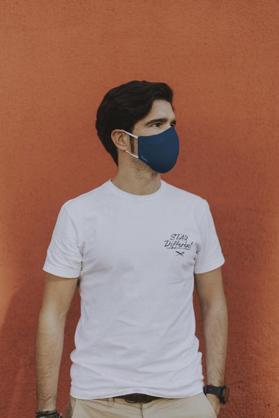 Reusable Face Mask - 3 Layers - Blue