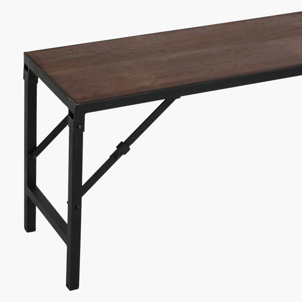 Reclaimed Folding Bench - Teak & Iron - 3 Sizes