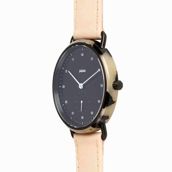 Watch - Havana Black & Natural Leather