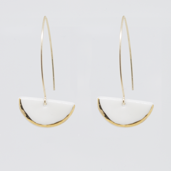 Earrings - Hook - Swona - Porcelain