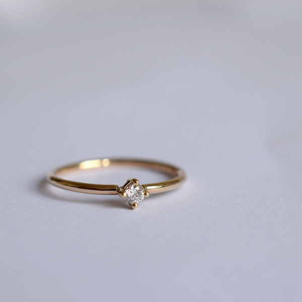 Ring - White Diamond - 9 ct Gold