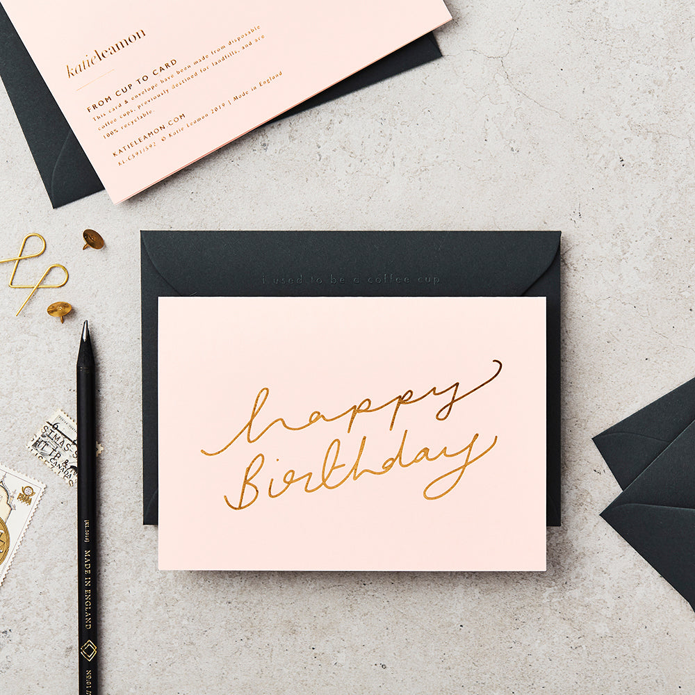 Greeting Card - Extract - Pink - Happy Birthday