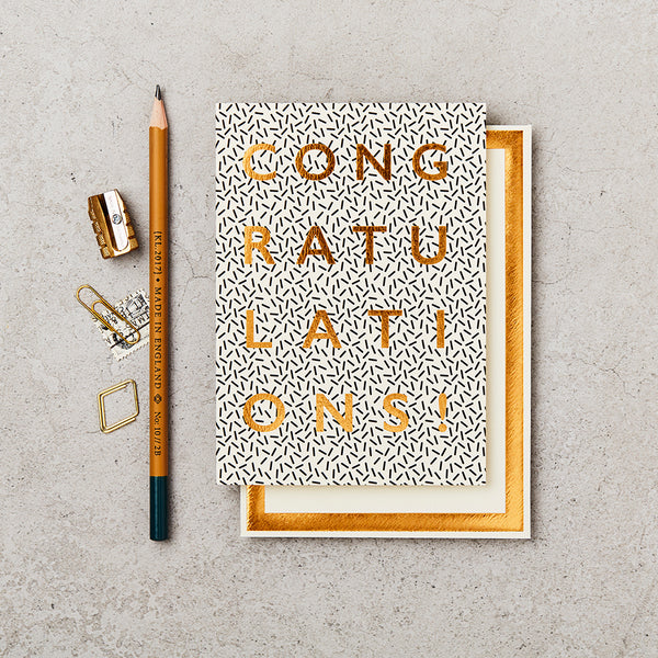 Greeting Card - Gold Foil - Congratulations
