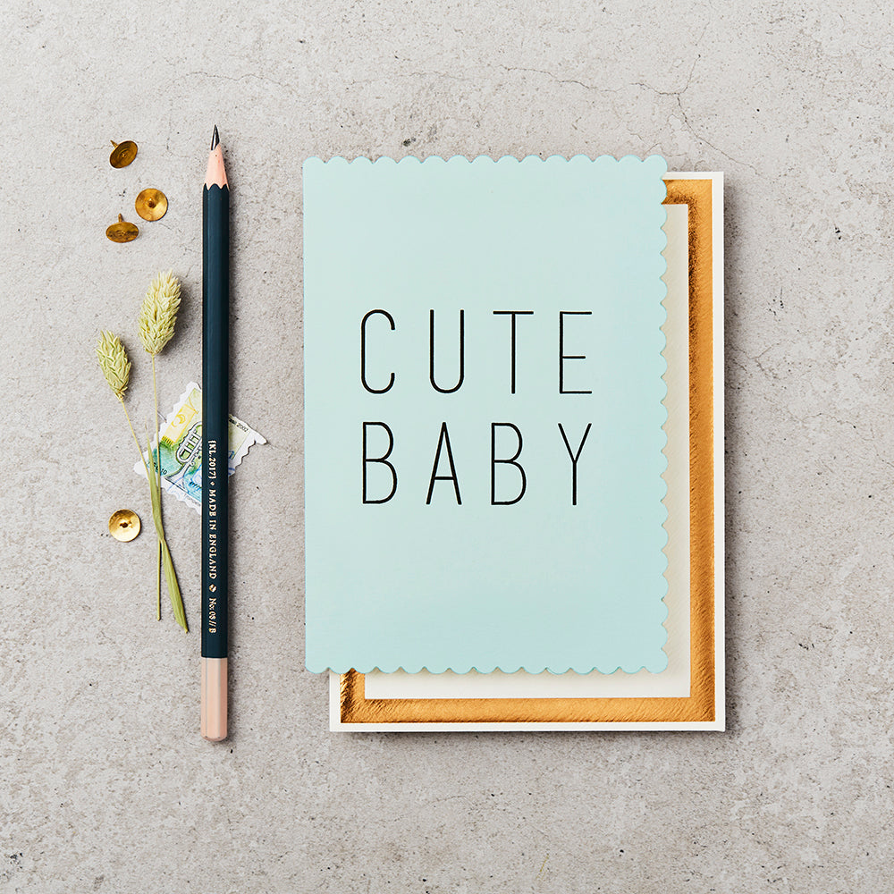 Greeting Card - Cute Baby - Green
