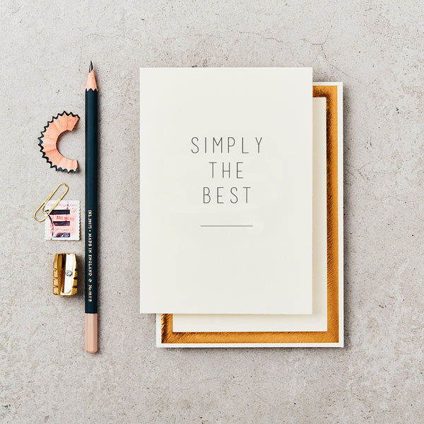 Greeting Card - Simply the Best