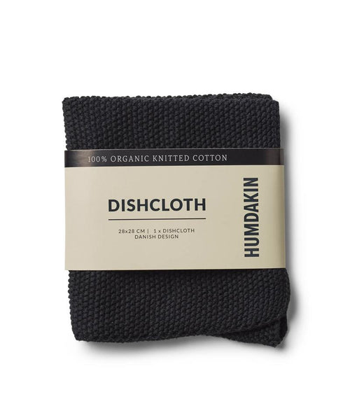 Dish Cloth - 100% Organic Cotton - Coal