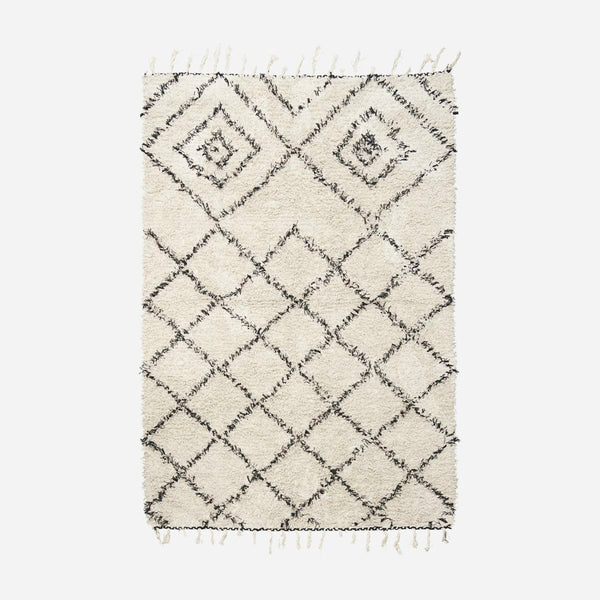 Rug - Kuba - Black Patterns - Soft Cotton