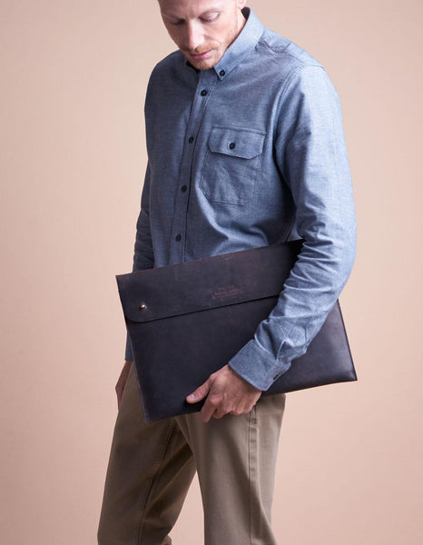 "15"" Laptop Case - Eco Hunter Leather - 2 Colours"