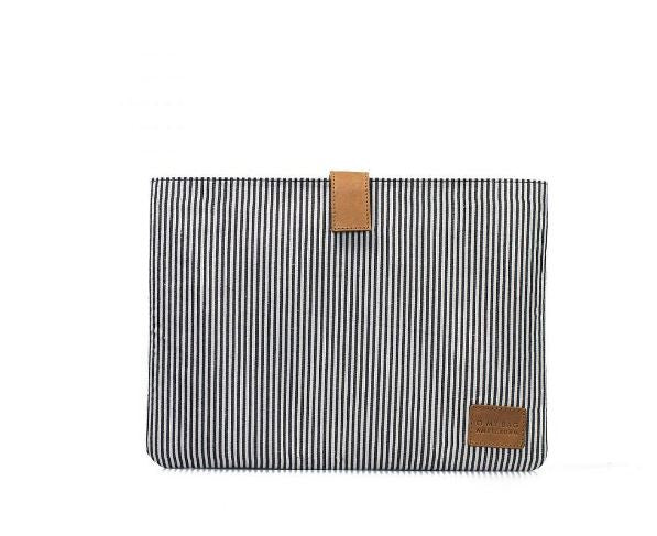 "13"" Laptop Case - Cotton With Leather Detail - 2 Colours"