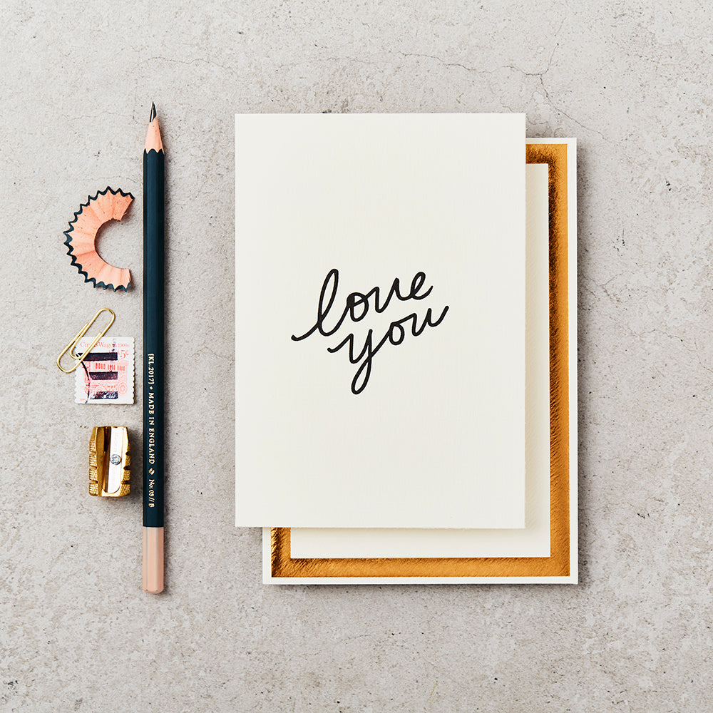 Greeting Card - Love You