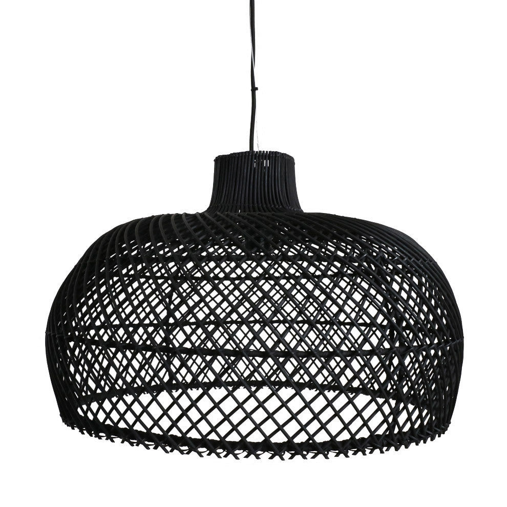 Maze Lampshade - Rattan - Black - Available in 2 sizes
