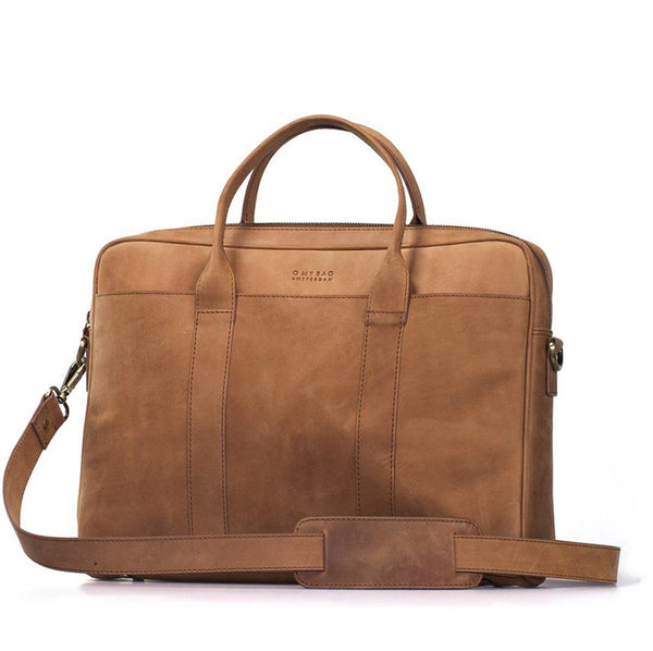 Business Bag - Havey - Eco Hunter Leather - Camel