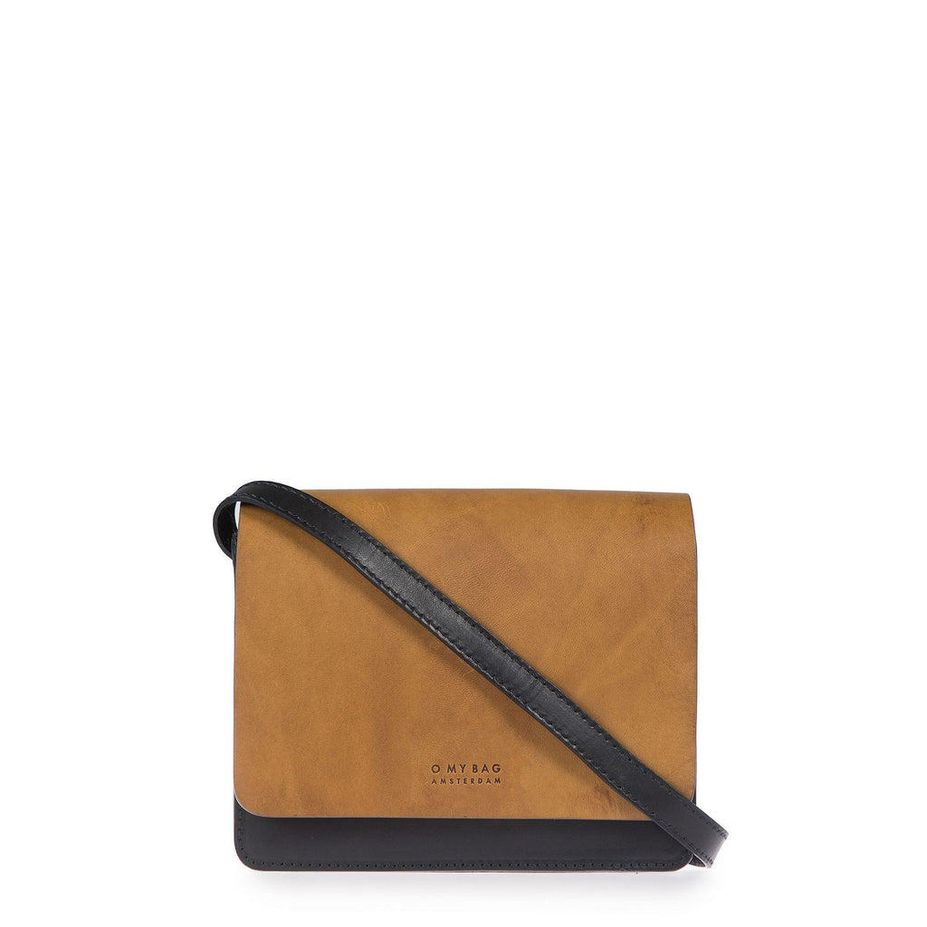 Bag - Audrey - Mini - Eco Classic Leather - Black/Cognac