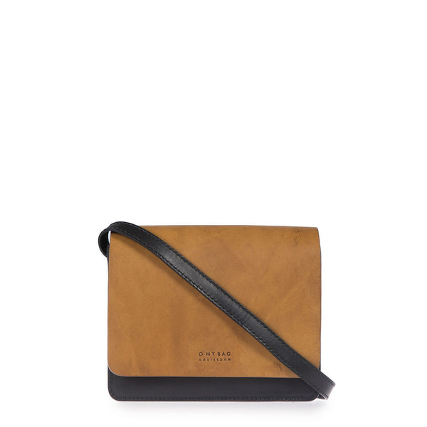 The Audrey - Mini - Eco Leather Bag - Black/Cognac