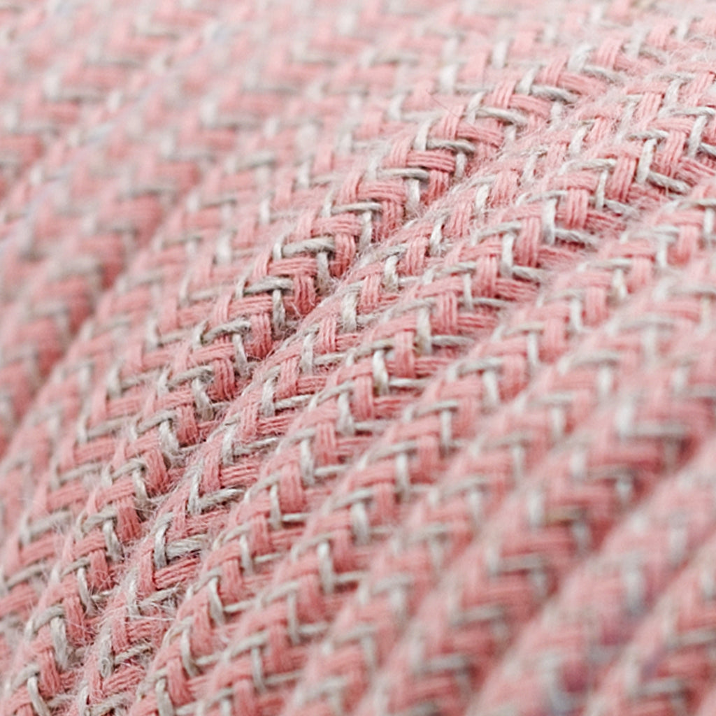 Cable - 3 Core - Cotton & Linen - Zig Zag - Ancient Pink