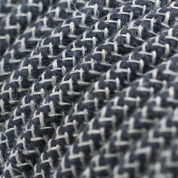 Cable - Cotton & Linen - Anthracite Zig Zag