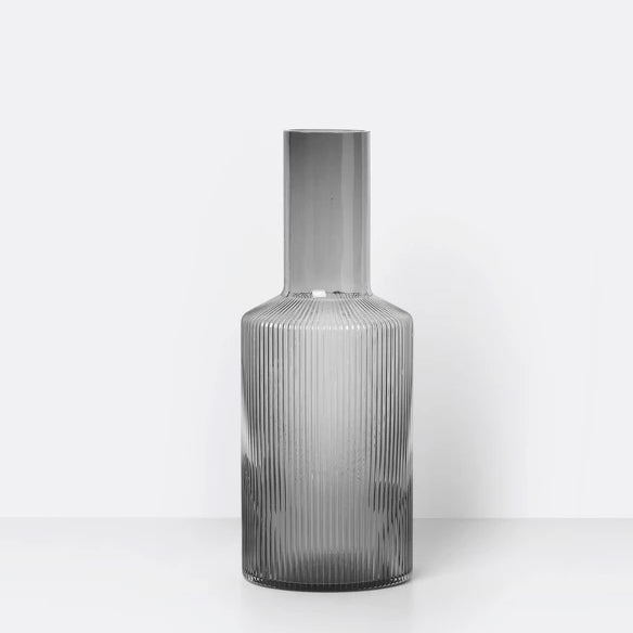 Carafe - Ripple - Smoked Grey