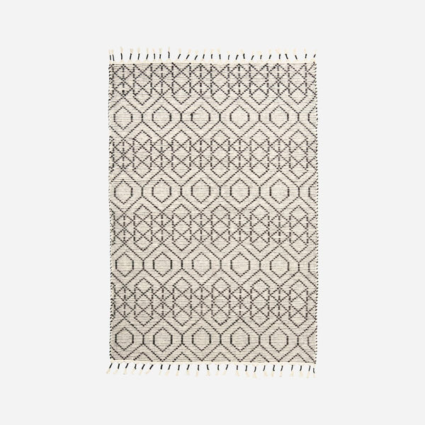 Rug with Frayed Edges - Reverse - Cotton