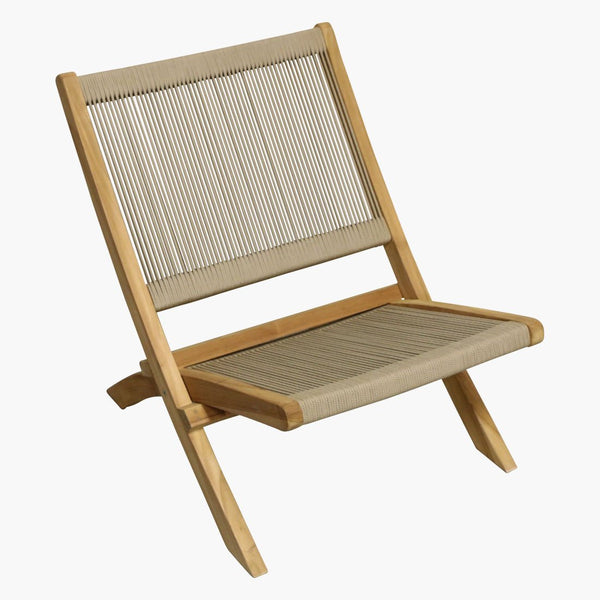 Rope Lounge Chair - Folding - Natural