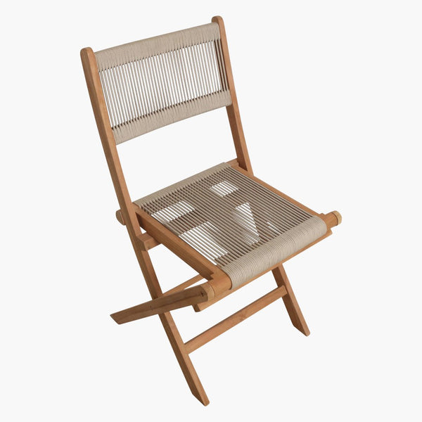 Rope Chair/Teak - Folding - Natural