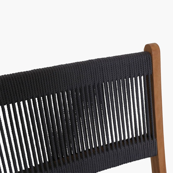 Rope Chair/Teak - Folding - Anthracite