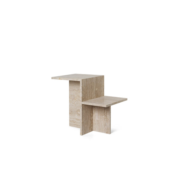 Side Table - Distinct - Travertine