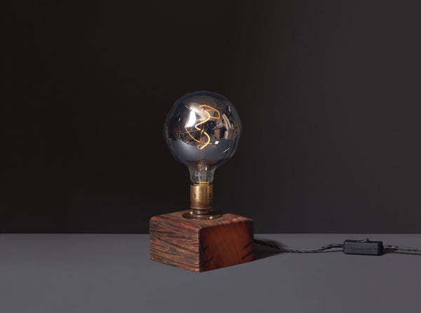 Table Lamp - Block - Reclaimed Wood