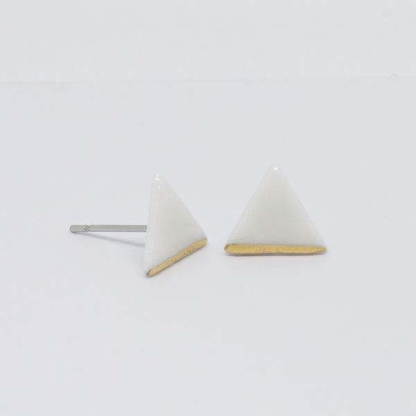 Earrings - Stud - Tiree - Porcelain