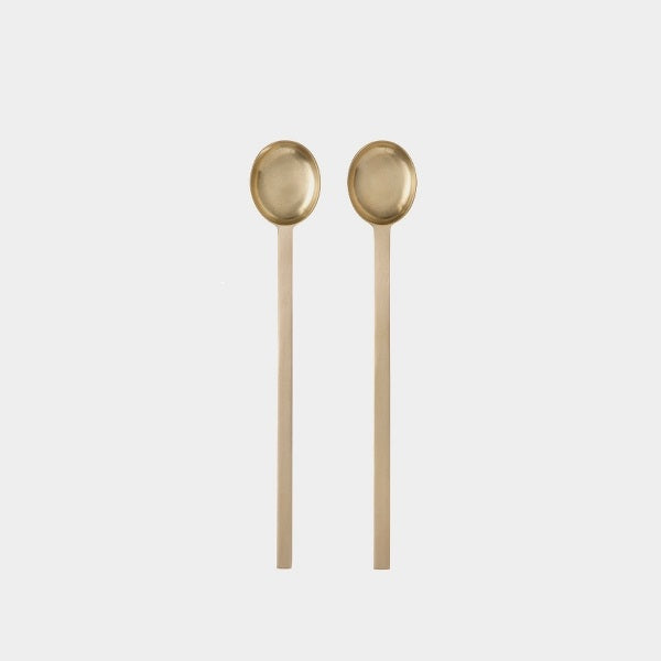 Teaspoons - Set of 2 - Brass