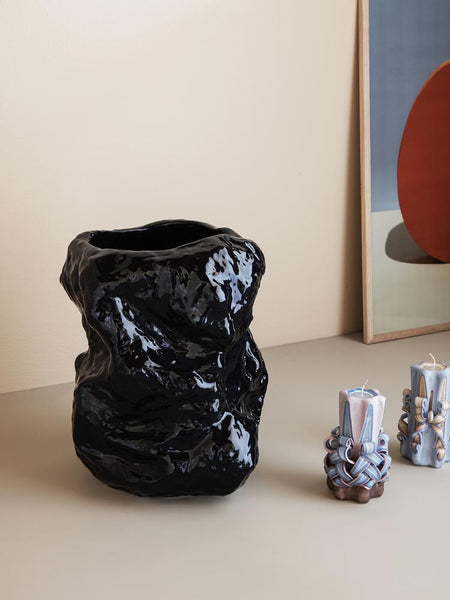 Tuck Vase - Glossy Ceramic - Various Colours