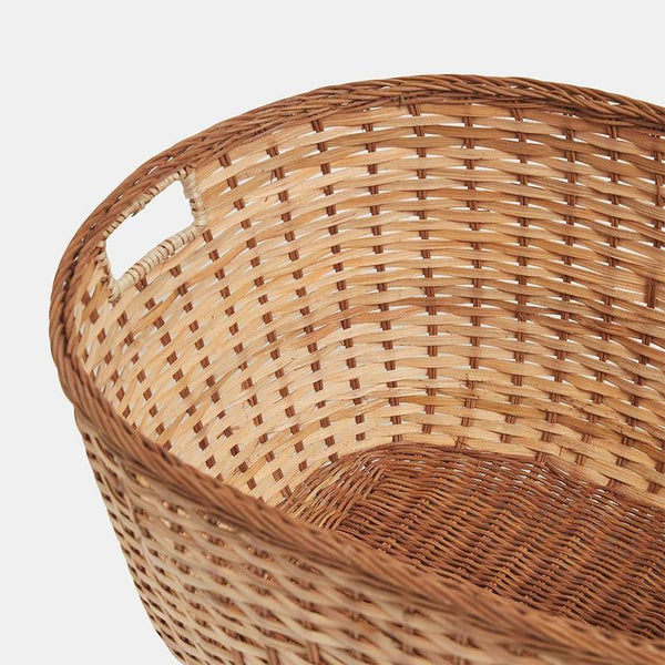 Laundry Basket - Natural Rattan