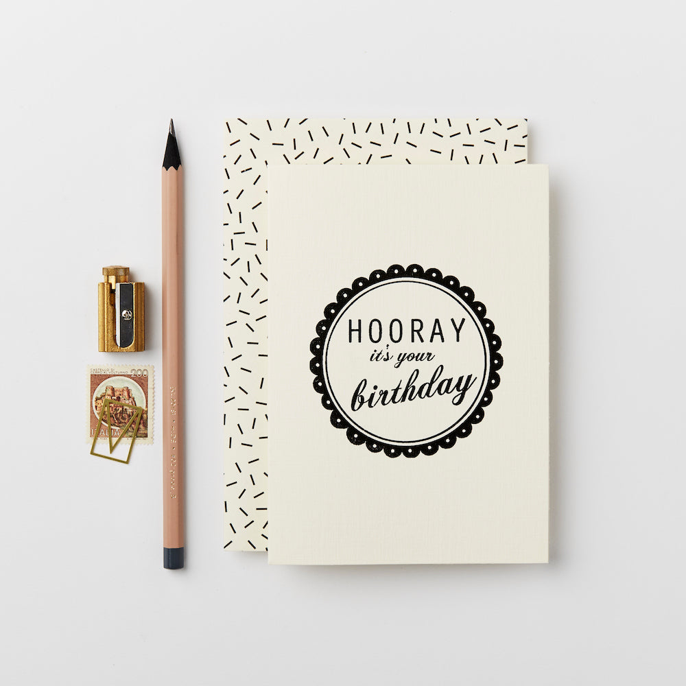Greeting Card - Hooray It's Your Birthday
