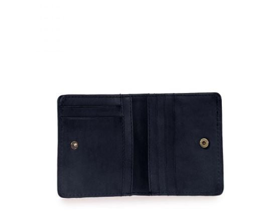 Cardholder - Alex Fold-Over - Eco Classic Leather - Navy