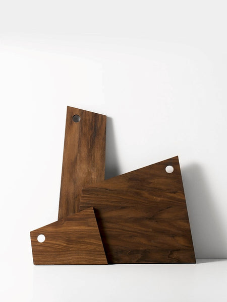 Asymmetric Cutting Board - Smoked Oak - Medium