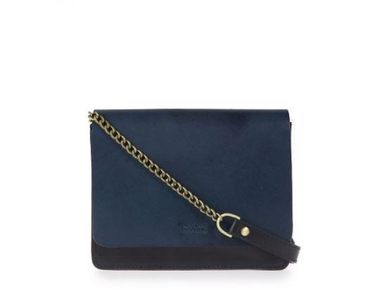 Bag - Audrey - Mini - Eco Classic Leather - Black/Navy
