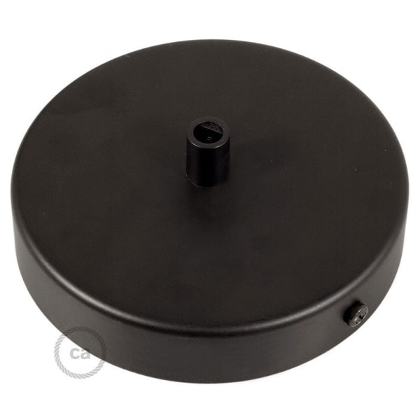 Ceiling Rose - Metal - Flat - Matt Black