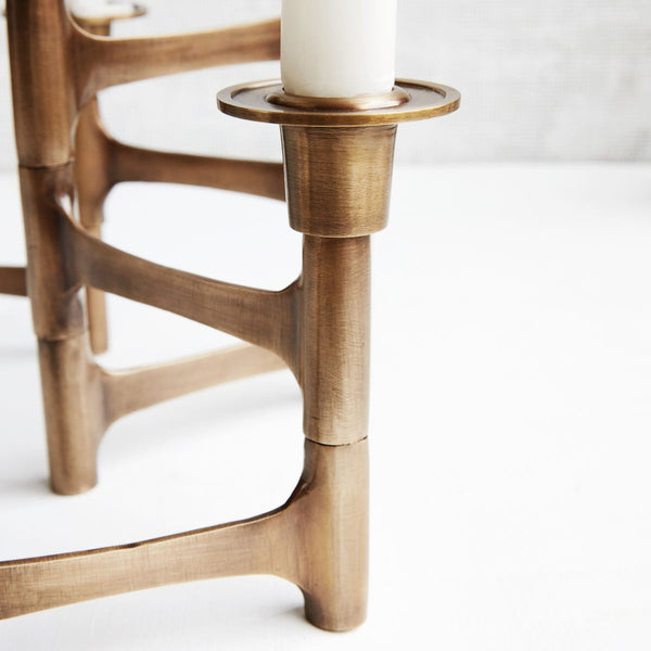 Candle Holder - Structural - Brass