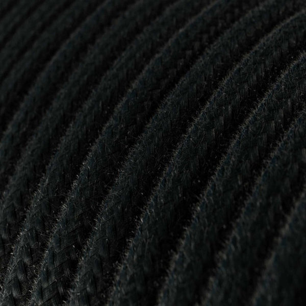 Cable - 3 Core - Cotton - Black