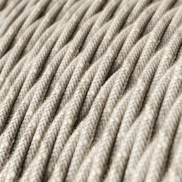 Cable - 3 Core - Linen - Twisted - Natural