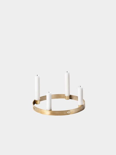 Circle Candle Holder - Brass