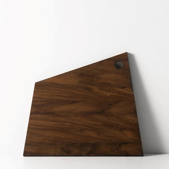 Asymmetric Cutting Board - Smoked Oak - Large