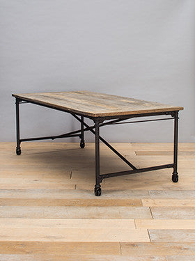 Elm Dining Table with Metal Base - AVAILABLE TO ORDER