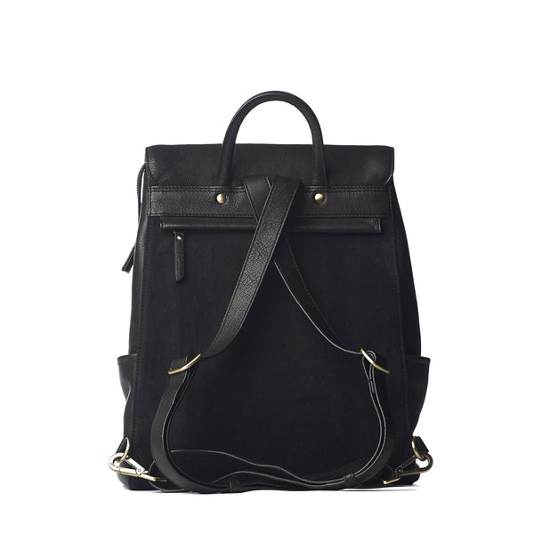 Backpack - Jean - Eco Soft Grain Leather - Black